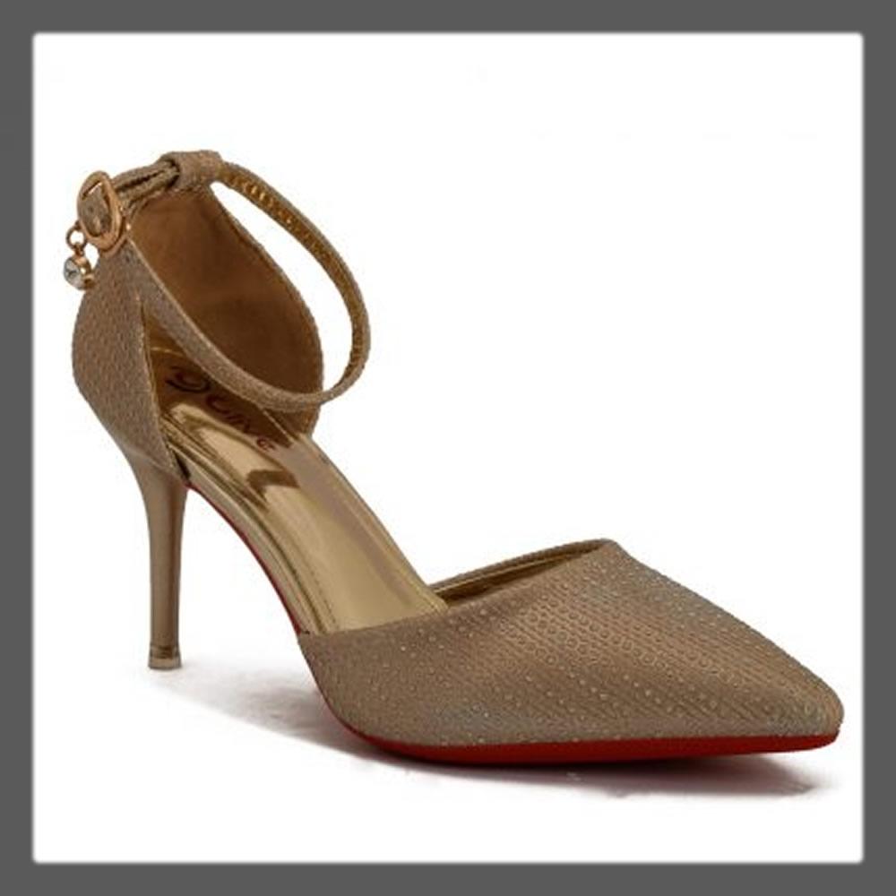 golden pointed heels