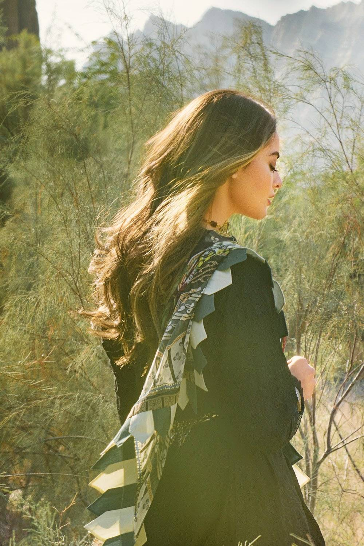 graceful black lawn dress