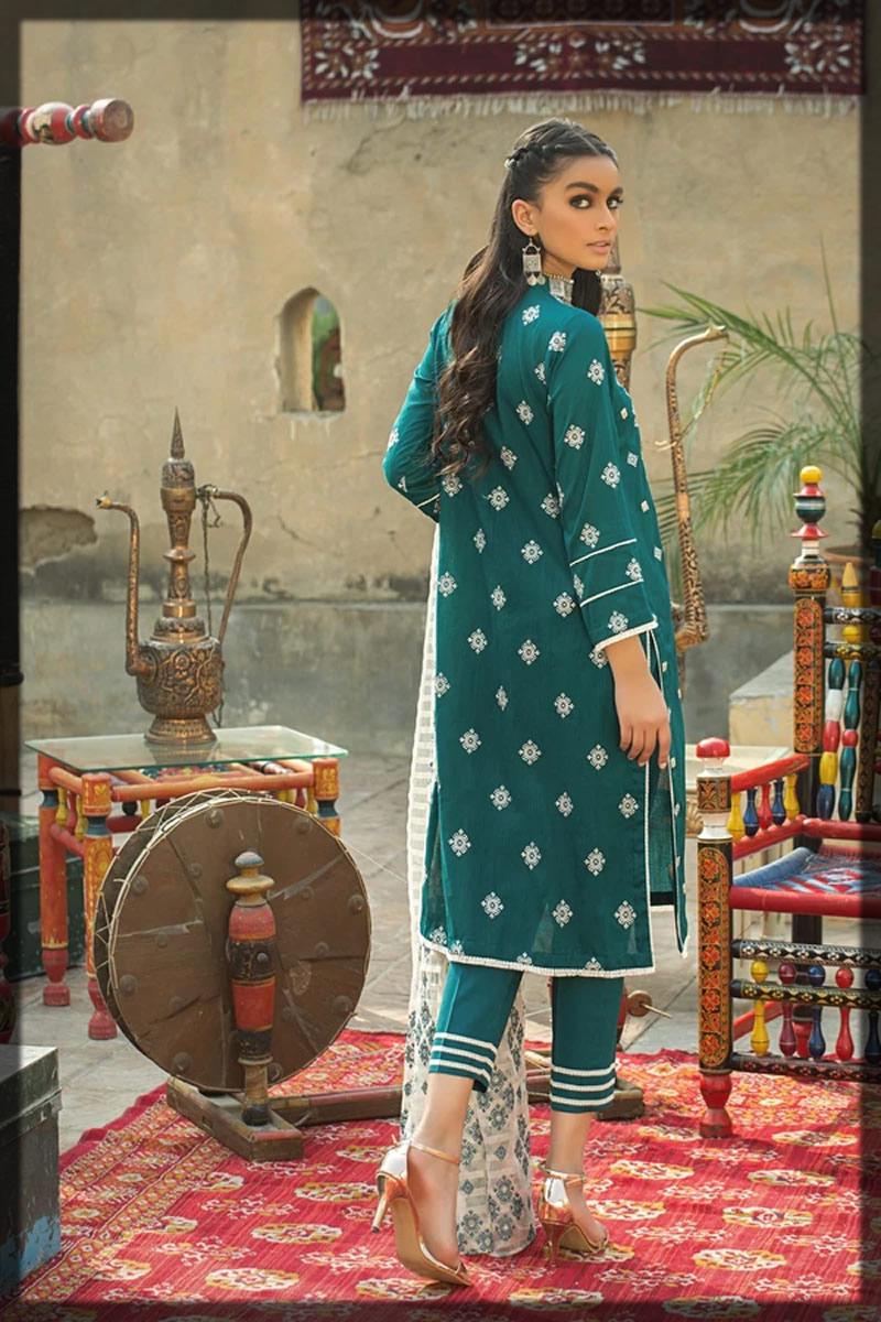 jacquard embroidered balochi style dress
