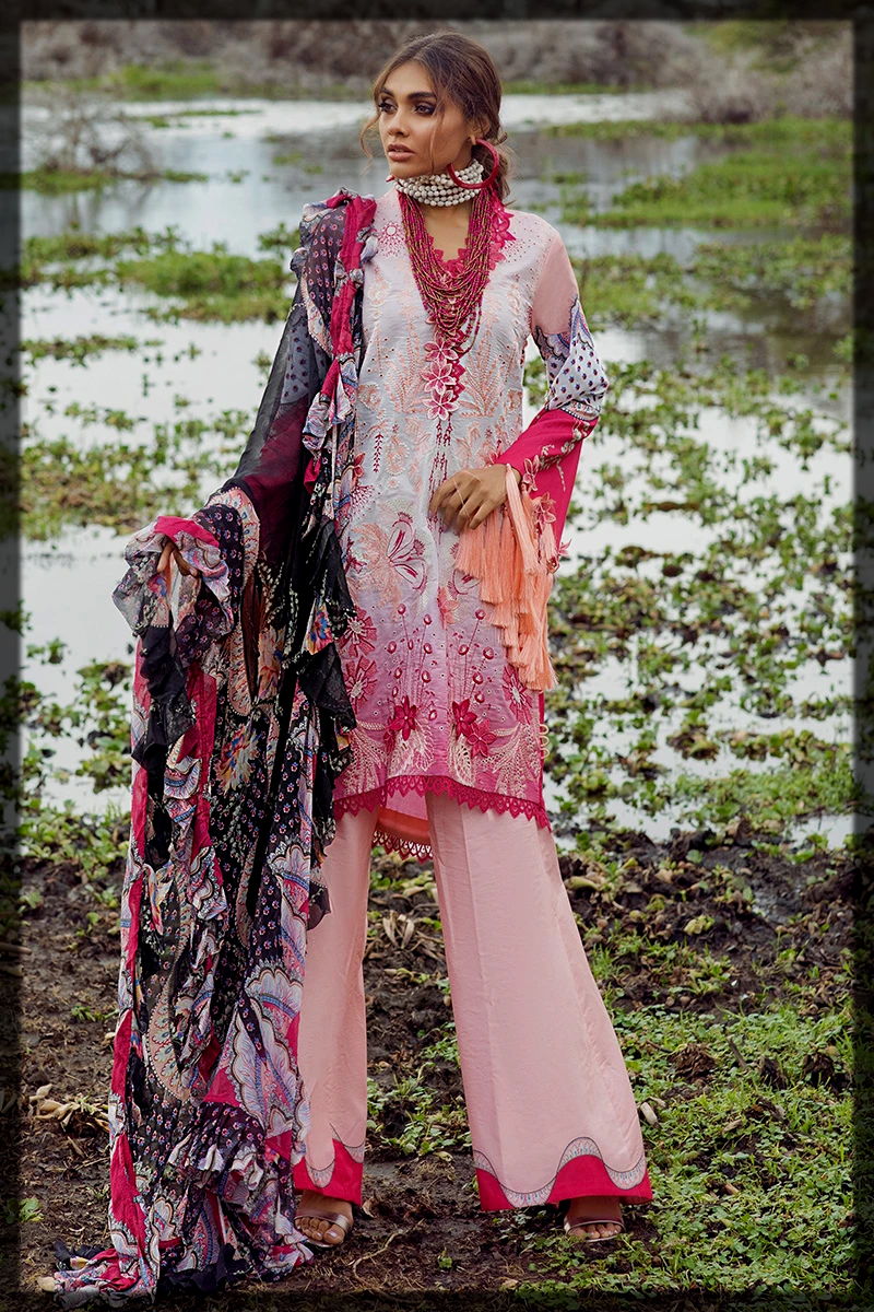 lovely pink summer suit by mushq