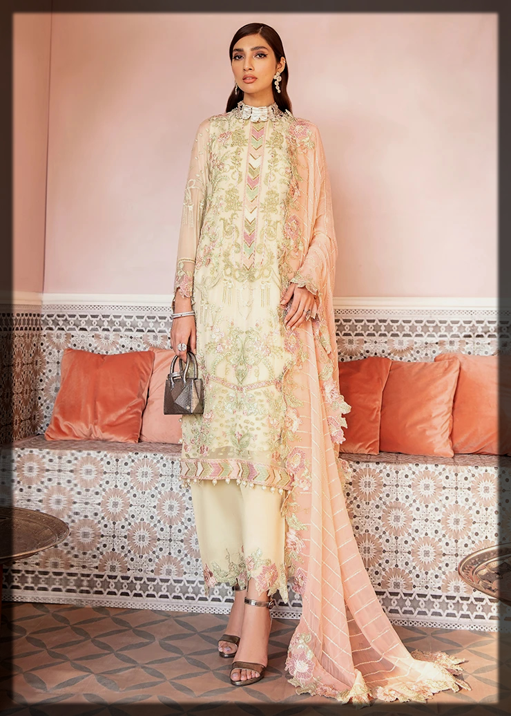 luxury lawn collection by Afrozeh