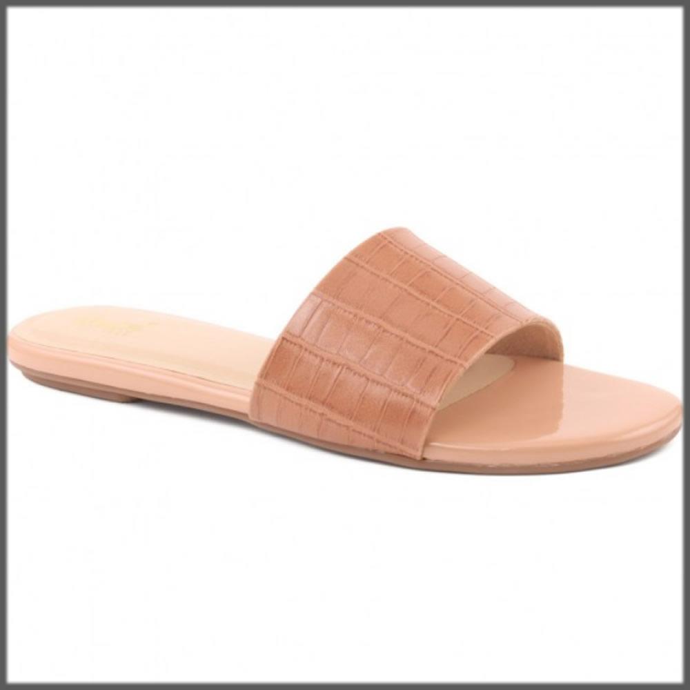 matte peach casual slipper