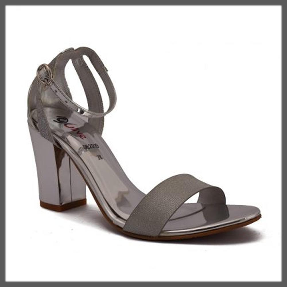 metallic grey fancy heels