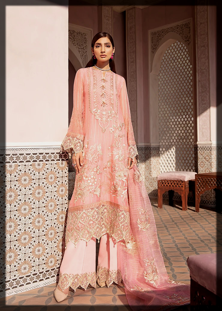 peach party wear suit for teens