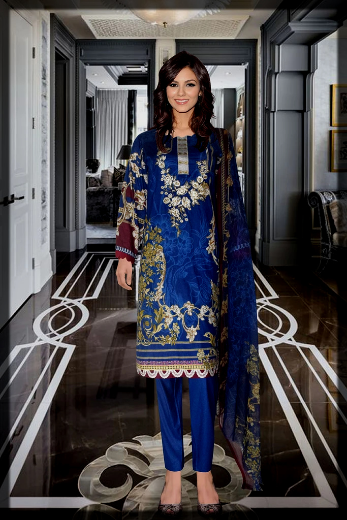 printed Embroidery dress for women
