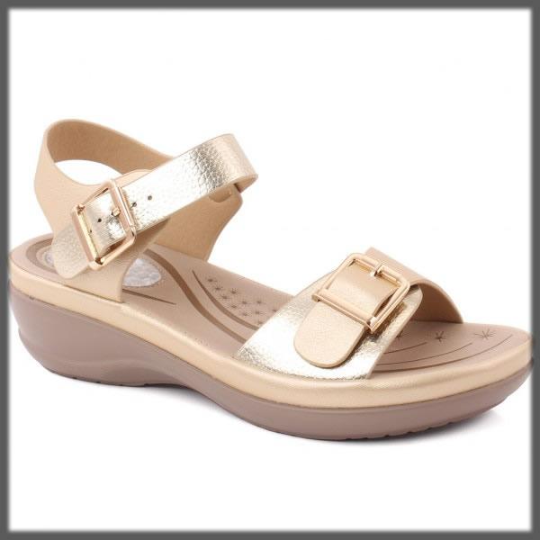 shiny golden sandals for women