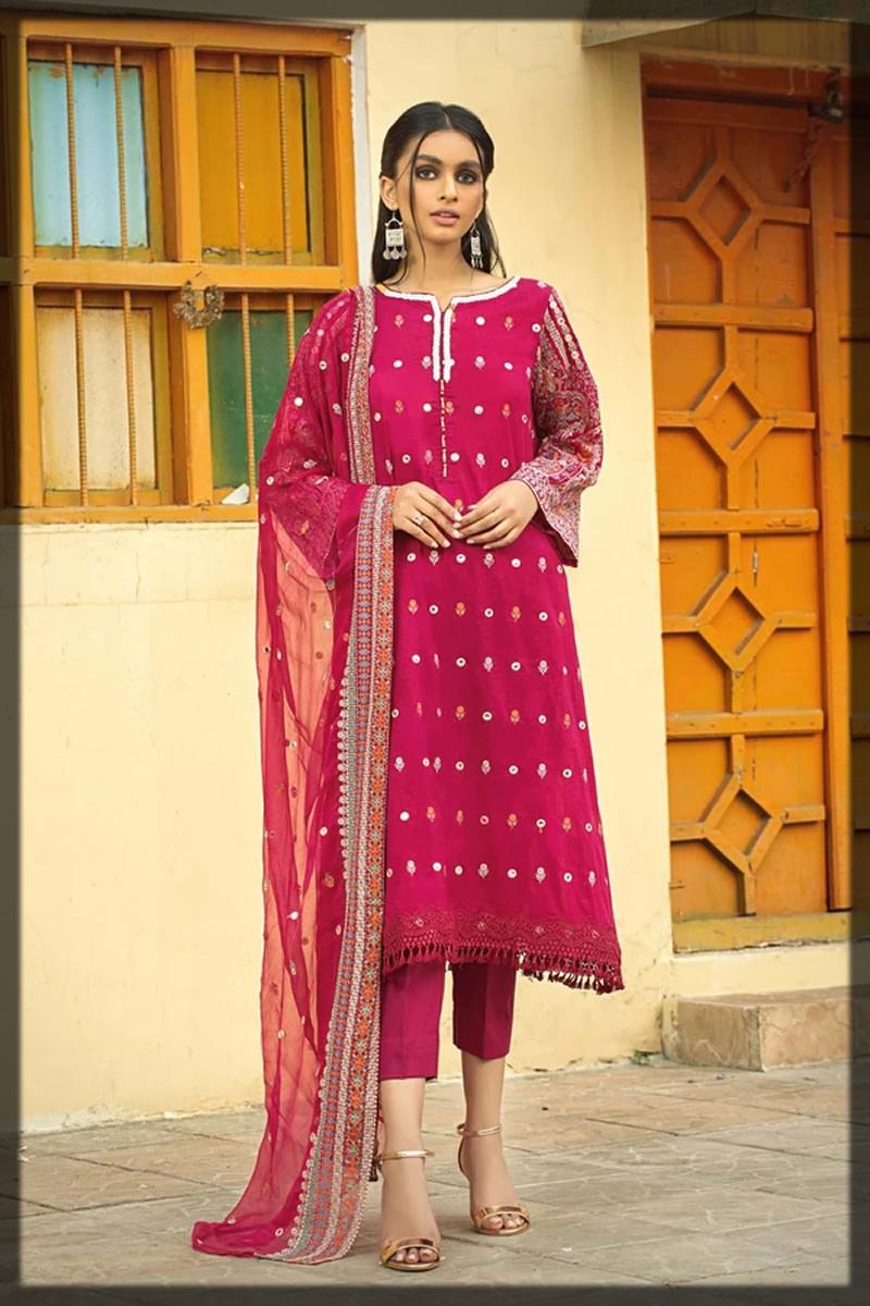 shocking pink balochi style dress