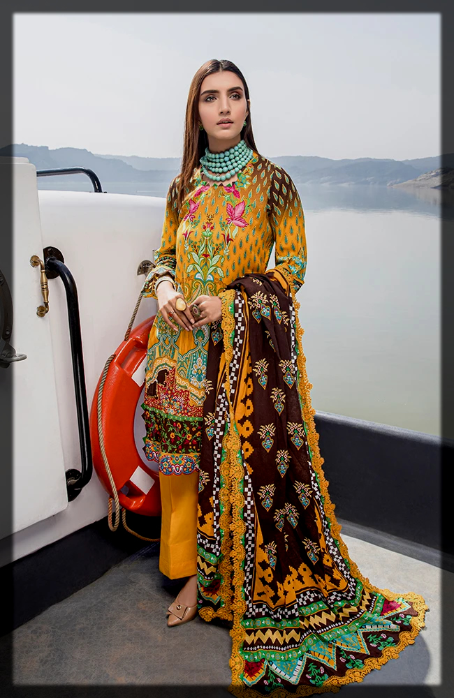 stunning yellow Al zohaib Textiles Summer Collection