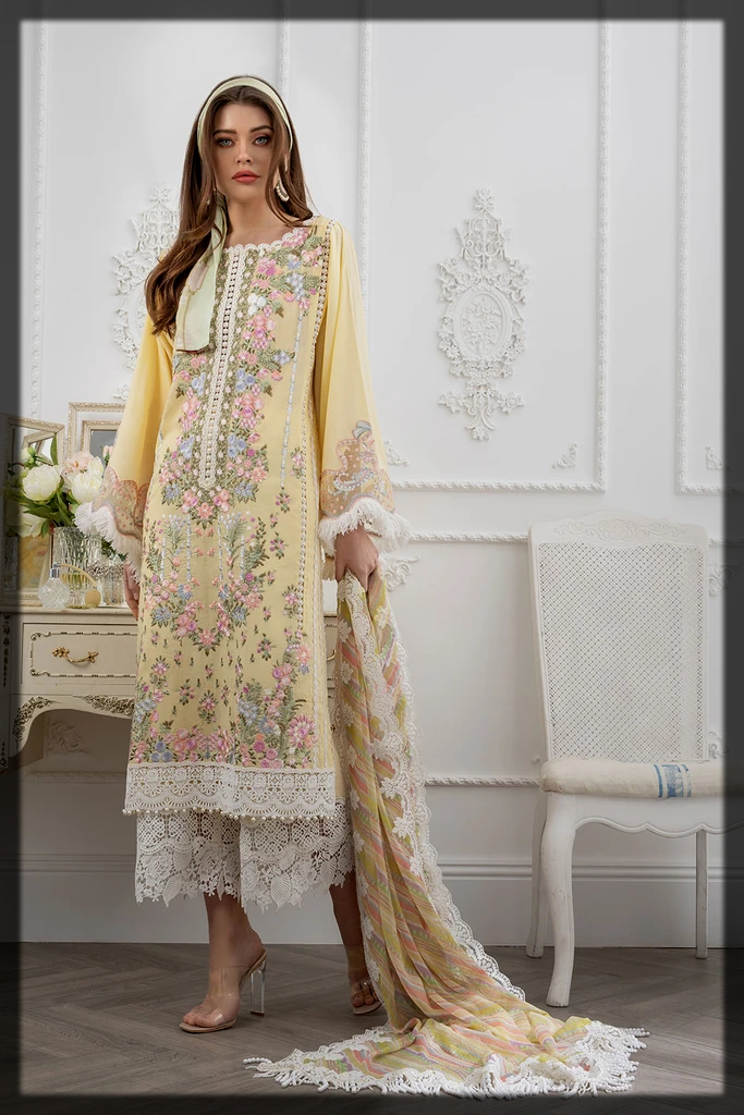 stunning yellow summer lawn outfit