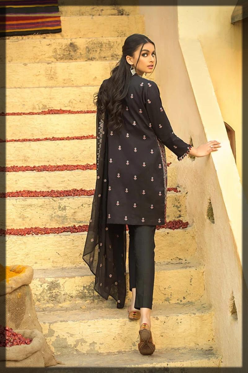 traditional black ajrak style dress