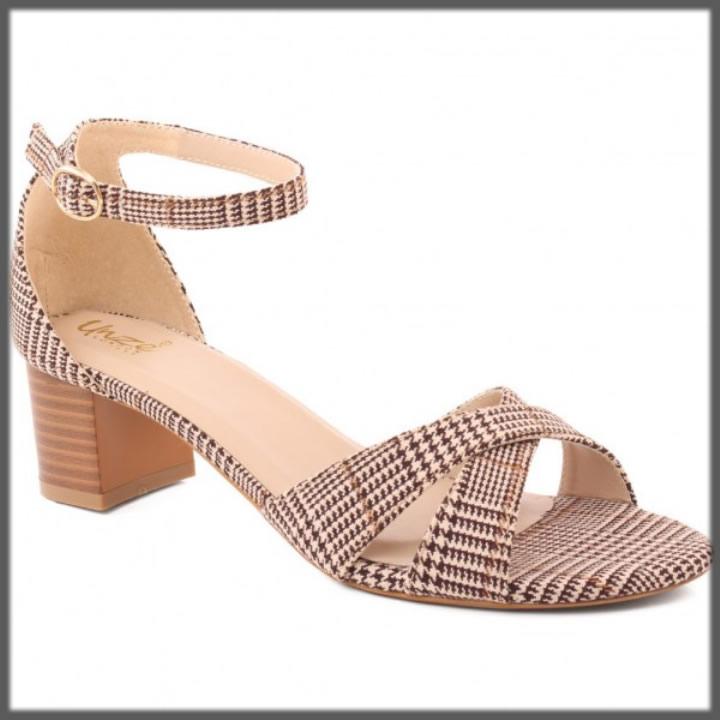 versatile wood look block heel sandals