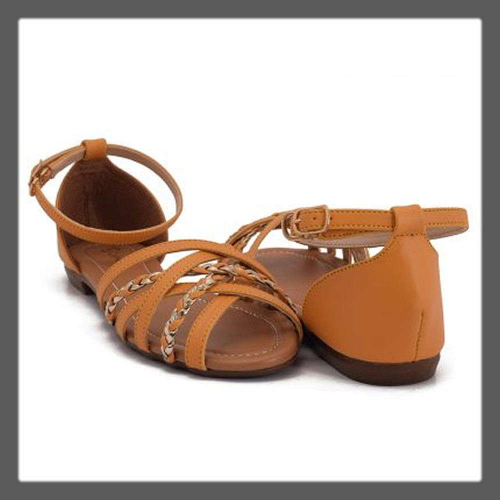 yellow casual strapped sandals