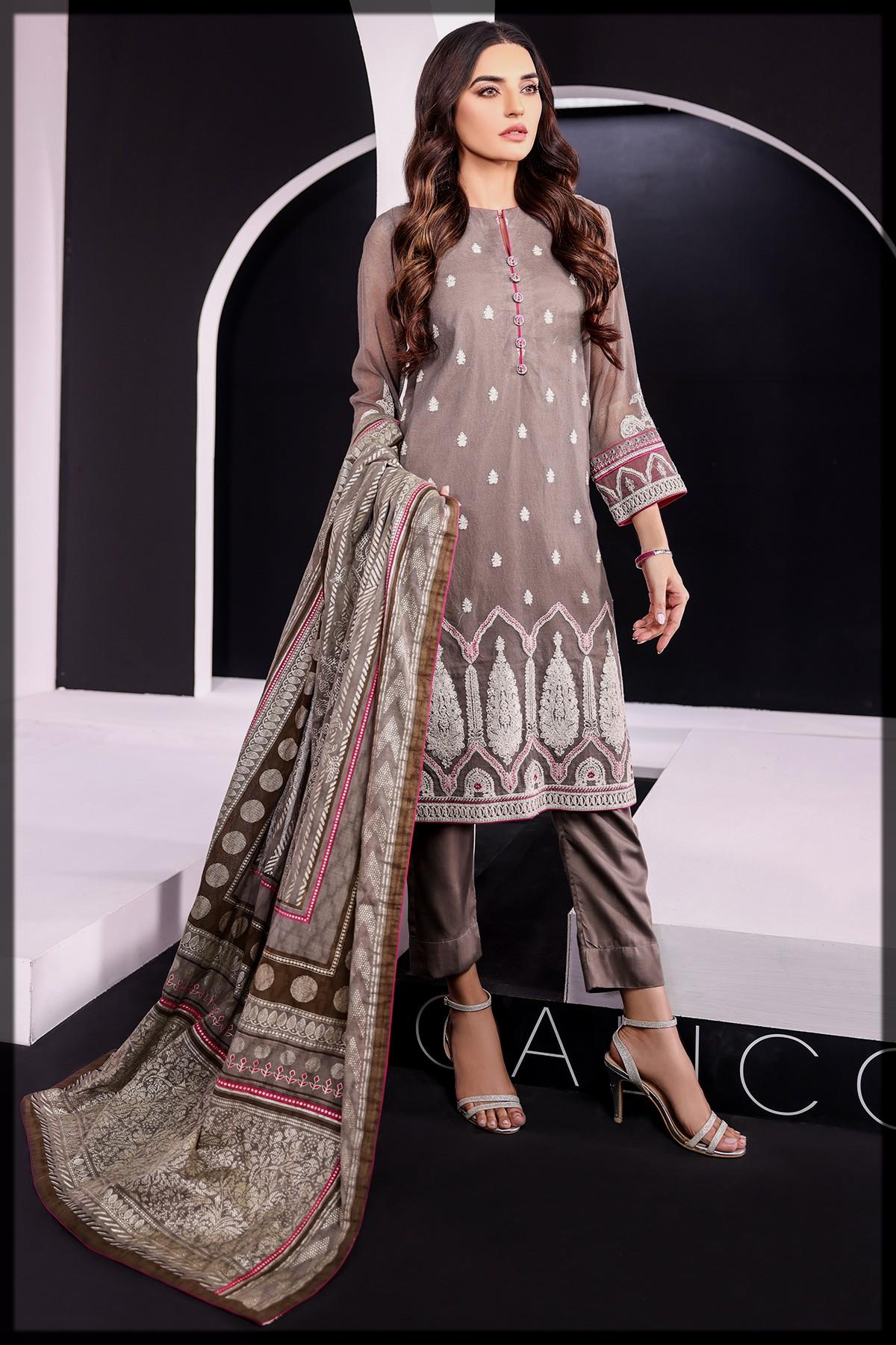 3 Pc Cotton Net Suit for eid