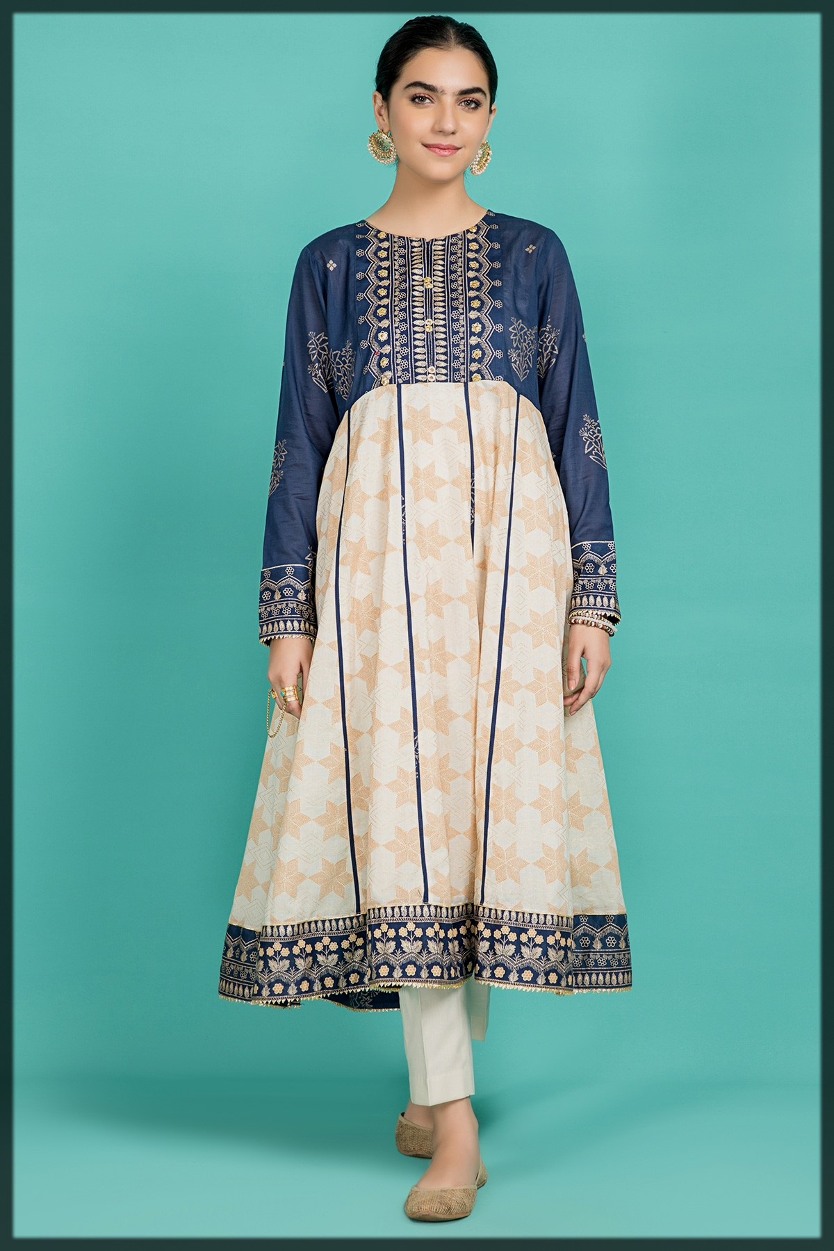 Classical Flared Frock for Young Girls