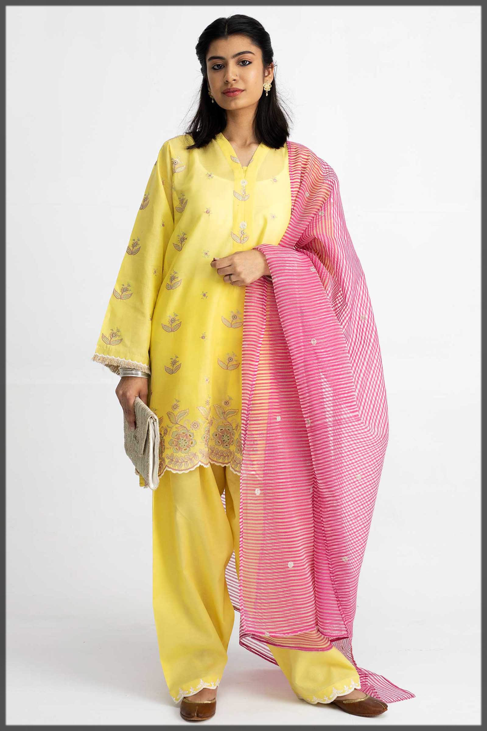 Custard Yellow Outfit for Eid