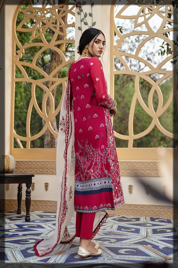 Embroidered Ethnic Vine Lawn Suit