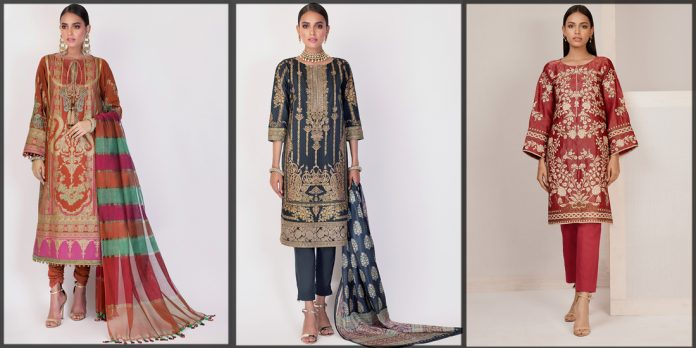 Latest and Beautiful Alkaram Eid Collection for women