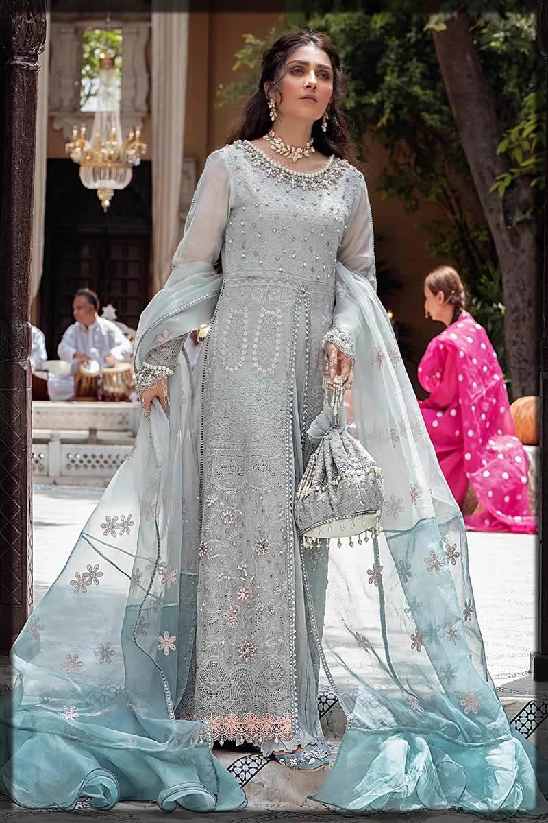 Mushq eid blue dress
