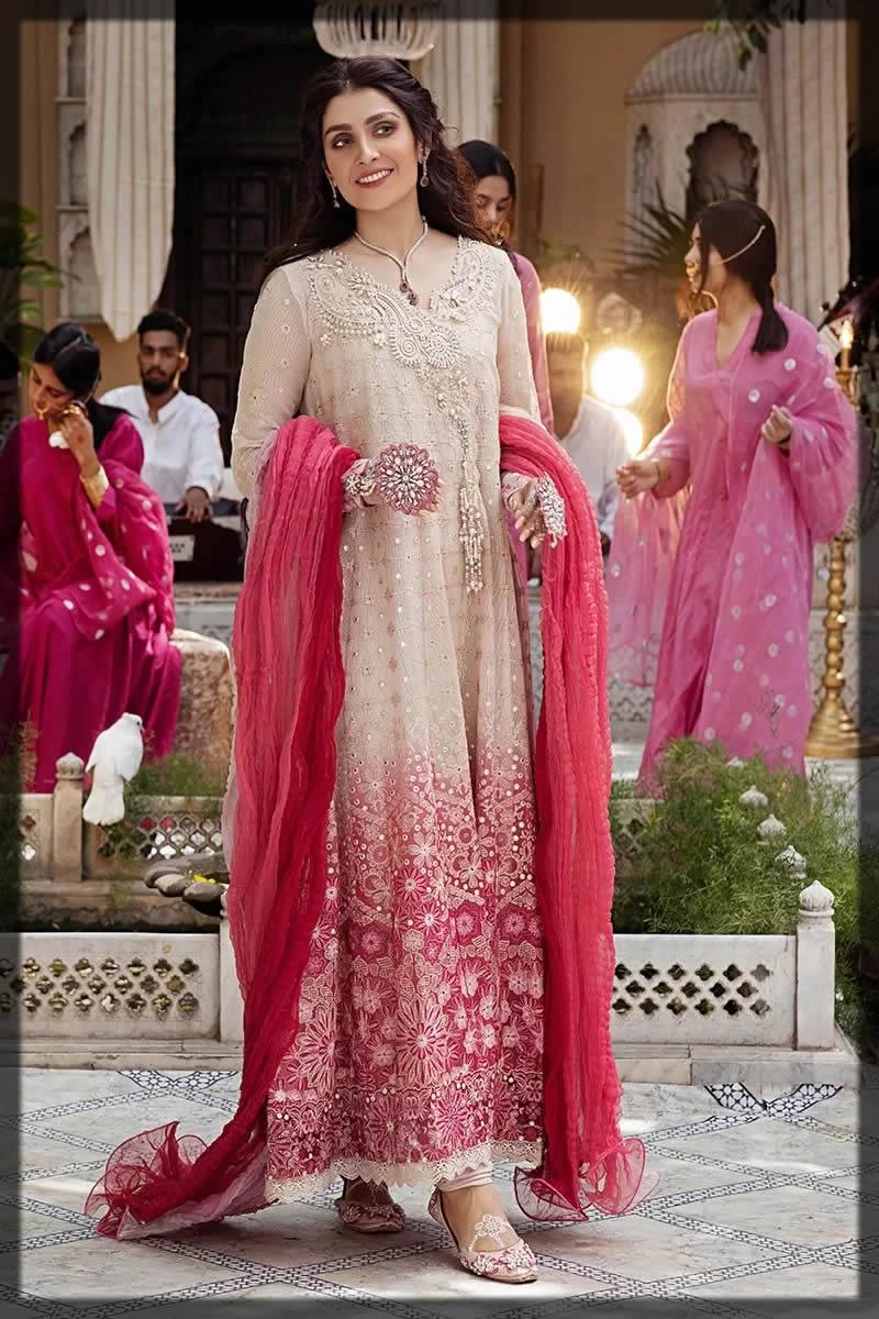 Muhshq eid ombre pink dress