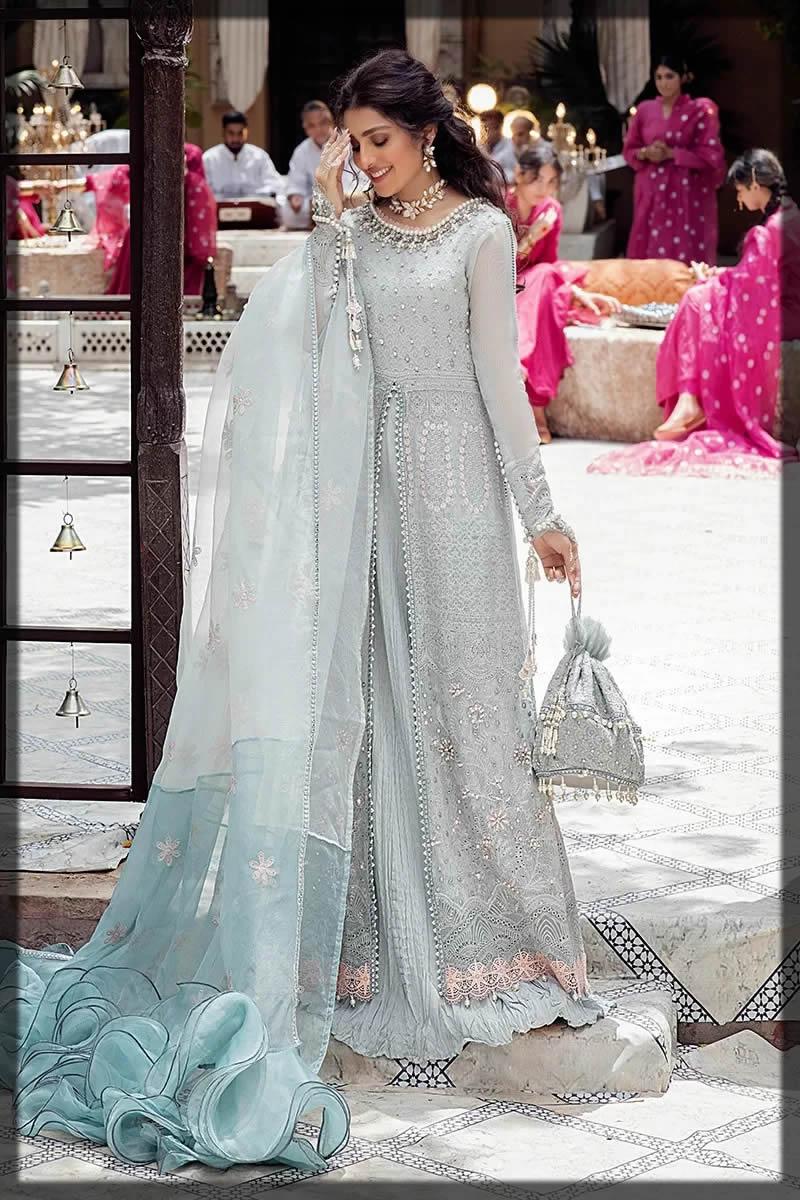 Mushq eid pastel blue dress