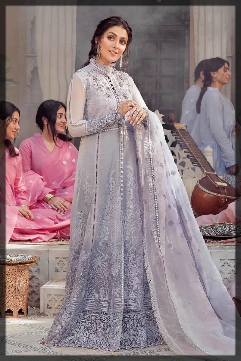 Mushq ash grey embroidered dress