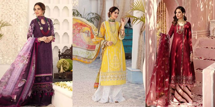 Noor by Sadia Asad ChikanKari suits