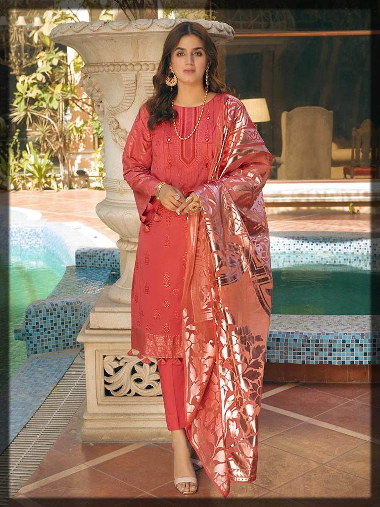 Rosy Pink Festive Eid Dress