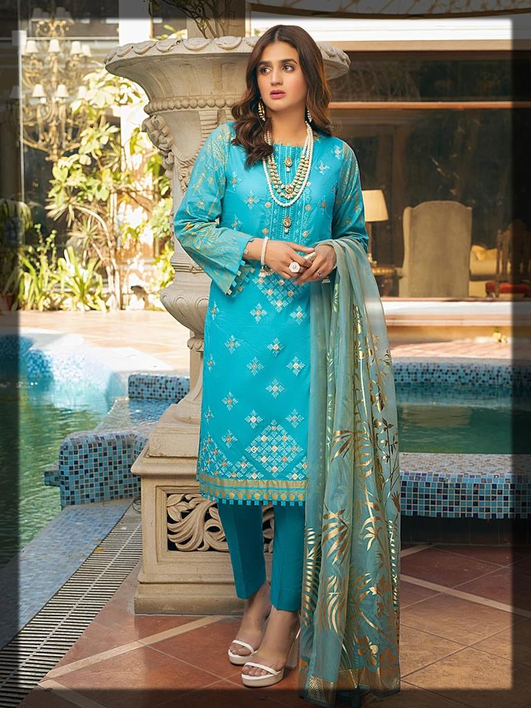 SKY BLUE FESTIVE EID DRESS