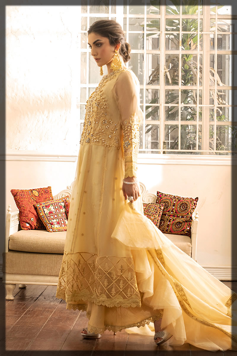 Samoan Sun Organza Embroidered Eid Dress
