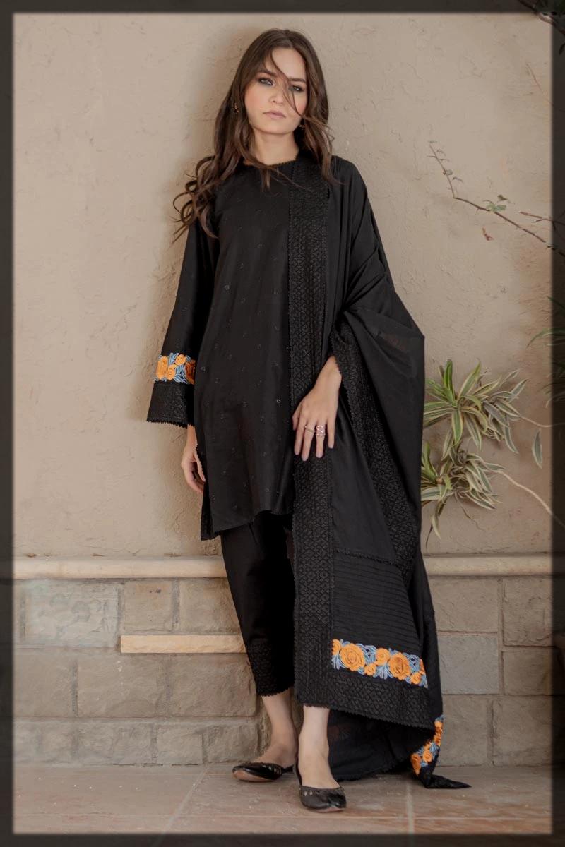 Sleek black summer eid suit by ego