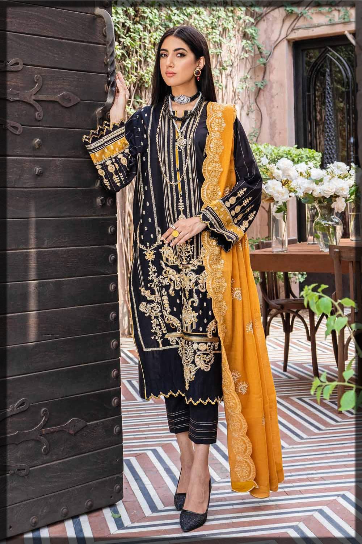 black and yellow eid dress