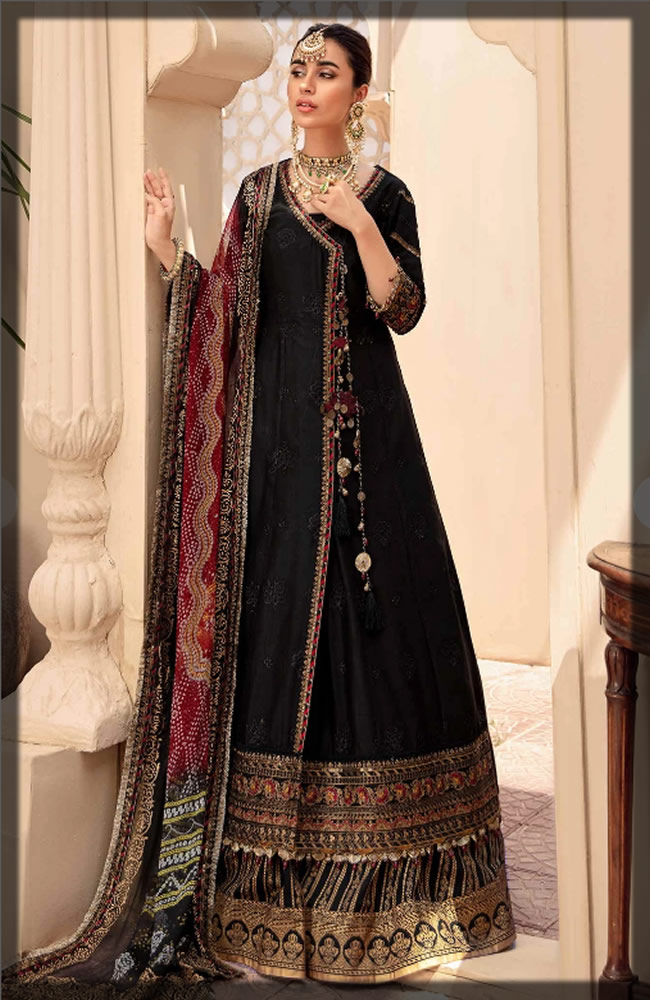 black embroidered eid dress