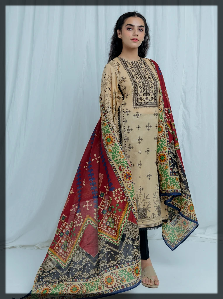 classy 2pc printed suit by beechtree