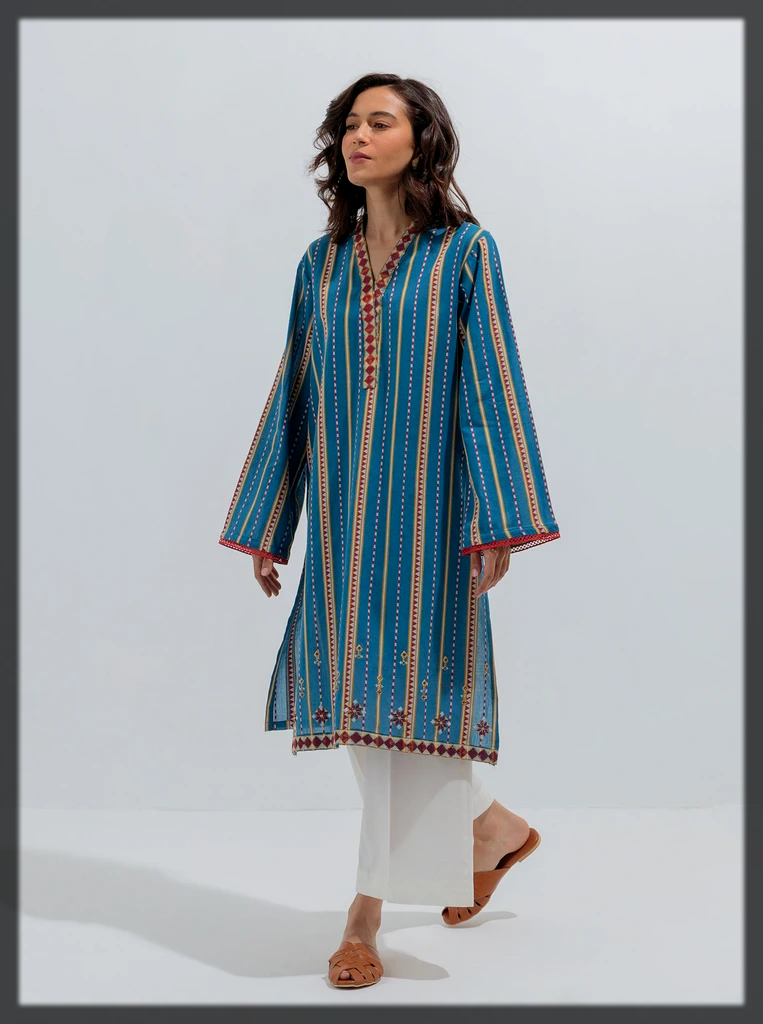 classy Jacquard shirt with woven stripes