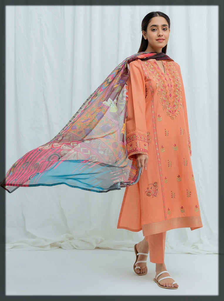 classy summer lawn suit for eid