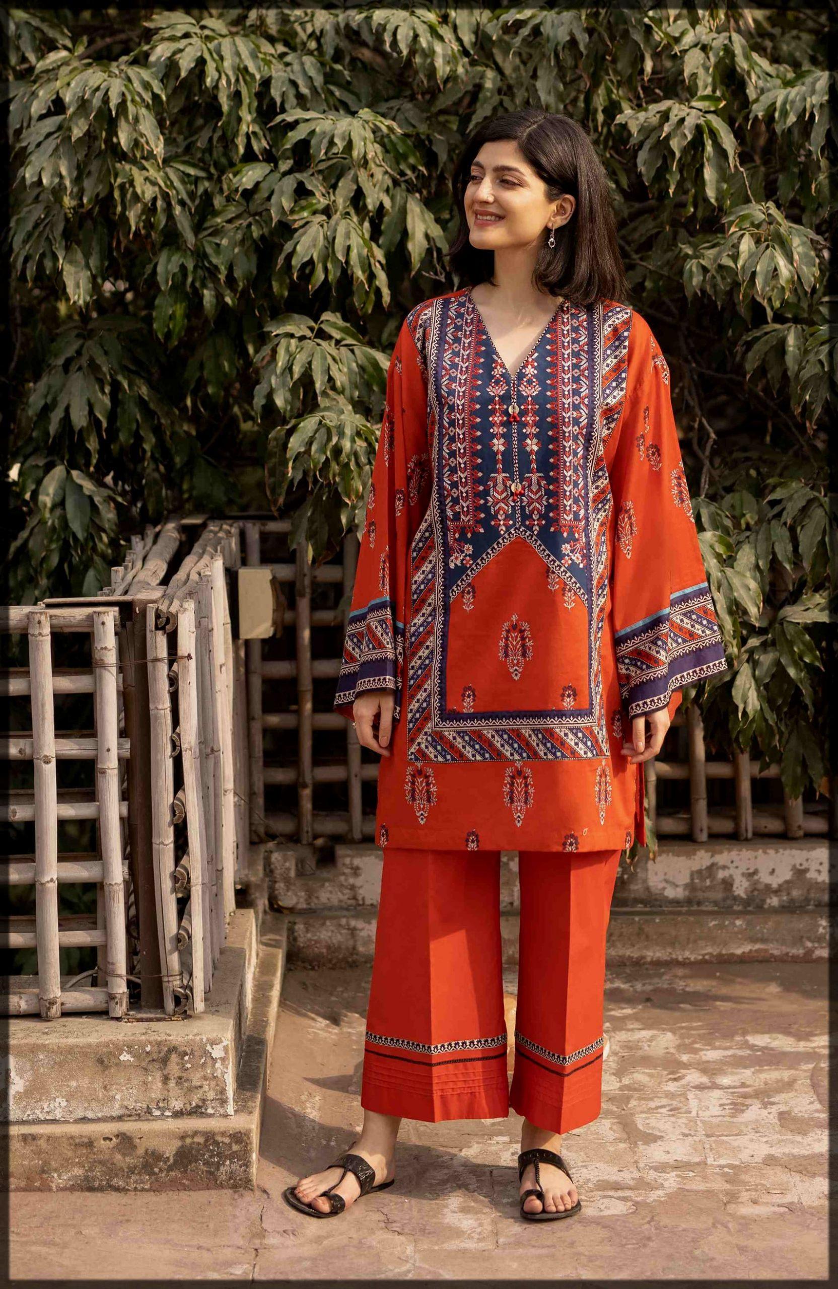 dazzling unstitched summer eid dress