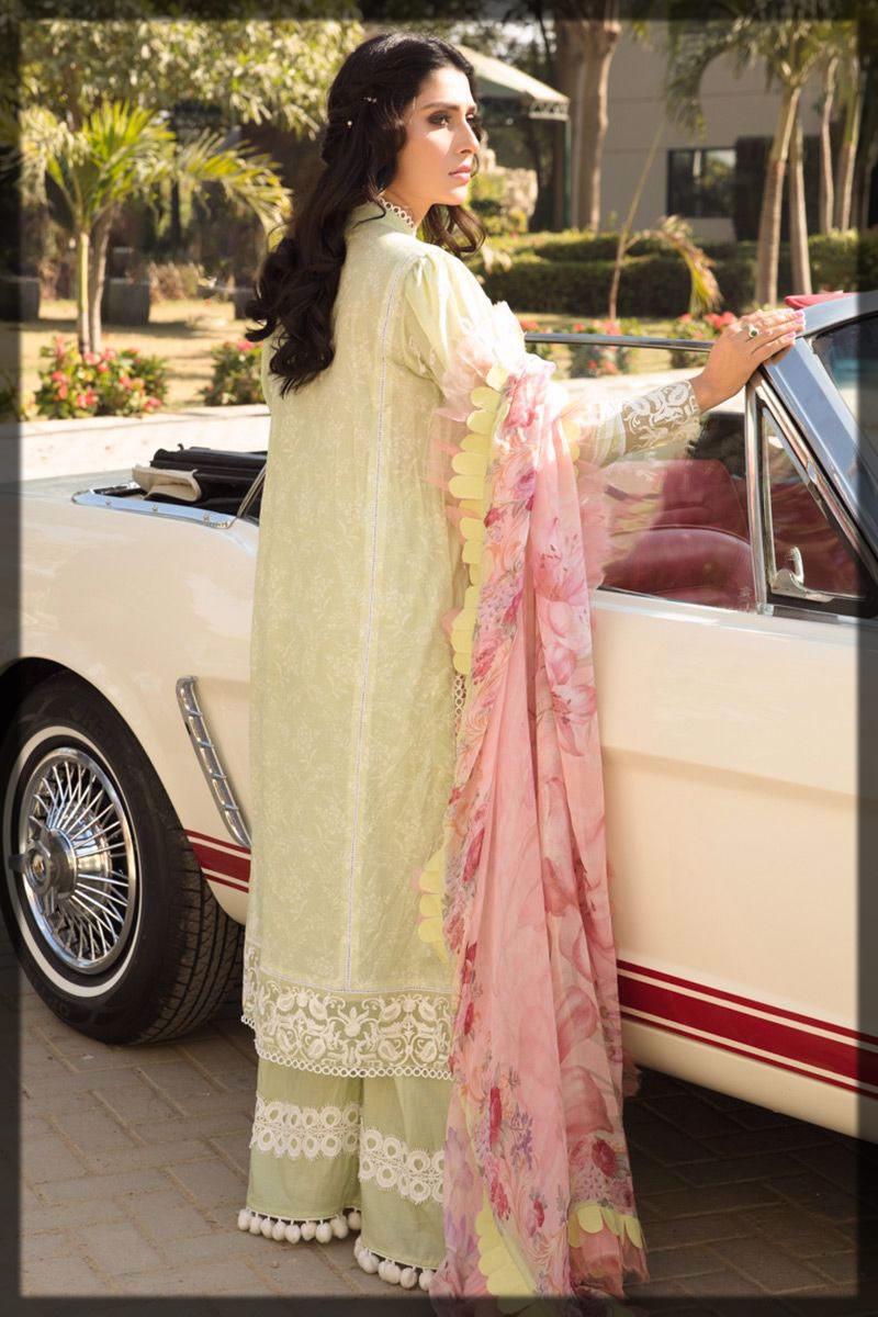 elegant soft mint lawn dress