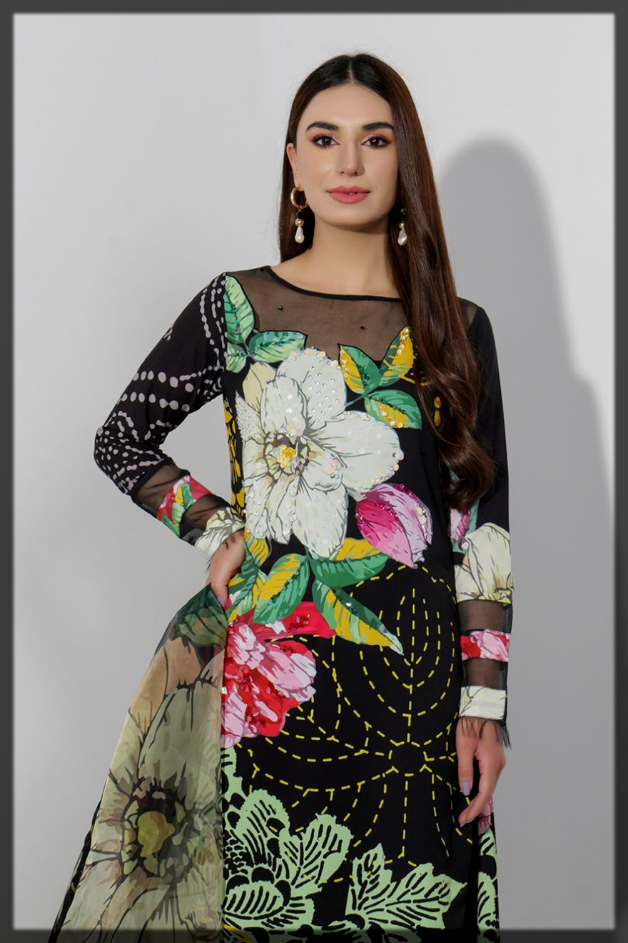 floral printed summer eid suit for women