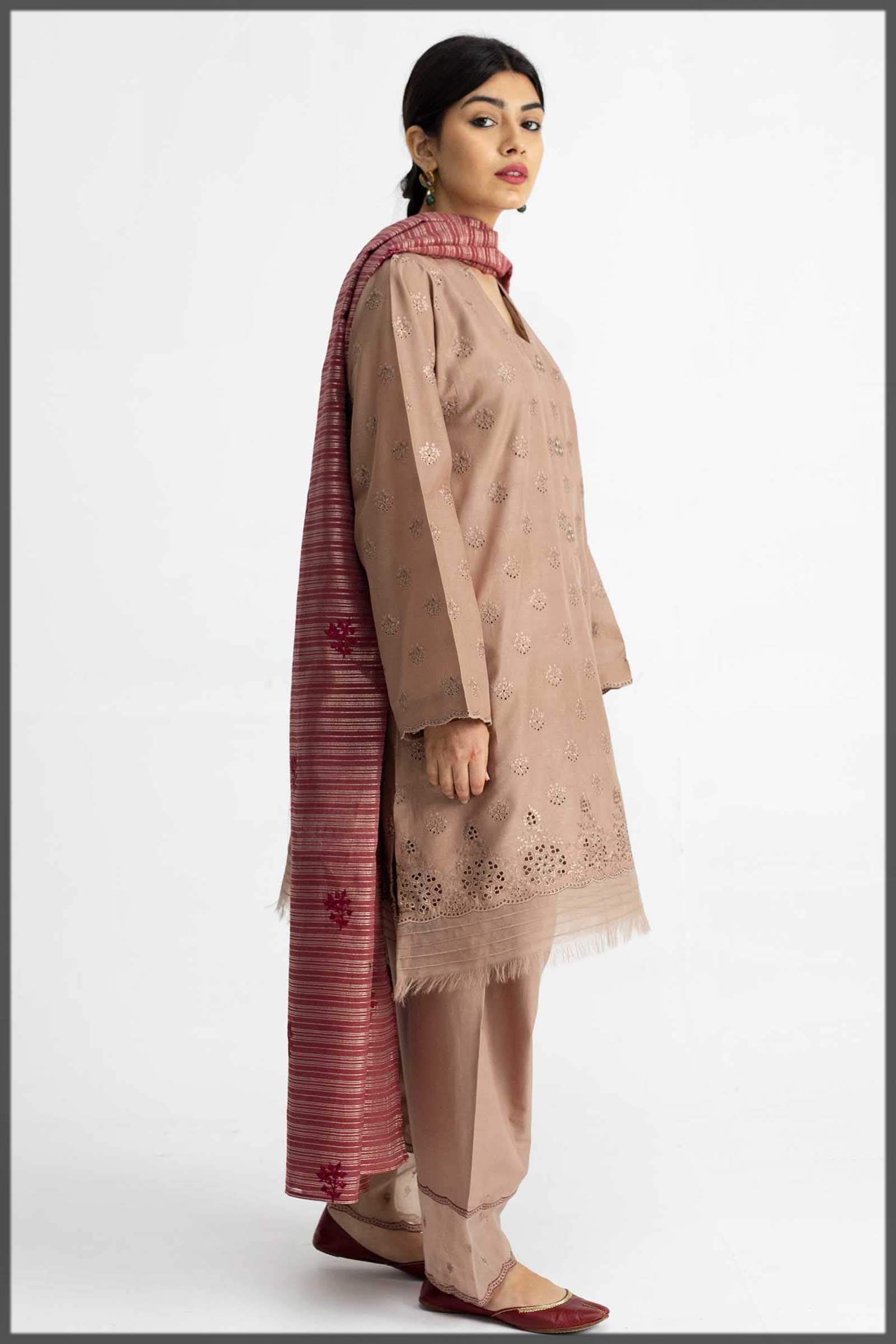 graceful almond brown dress