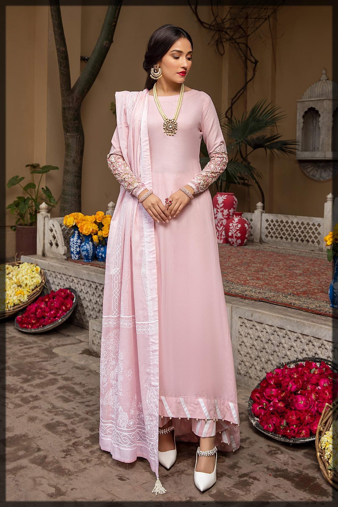 light pink cotton peshwas