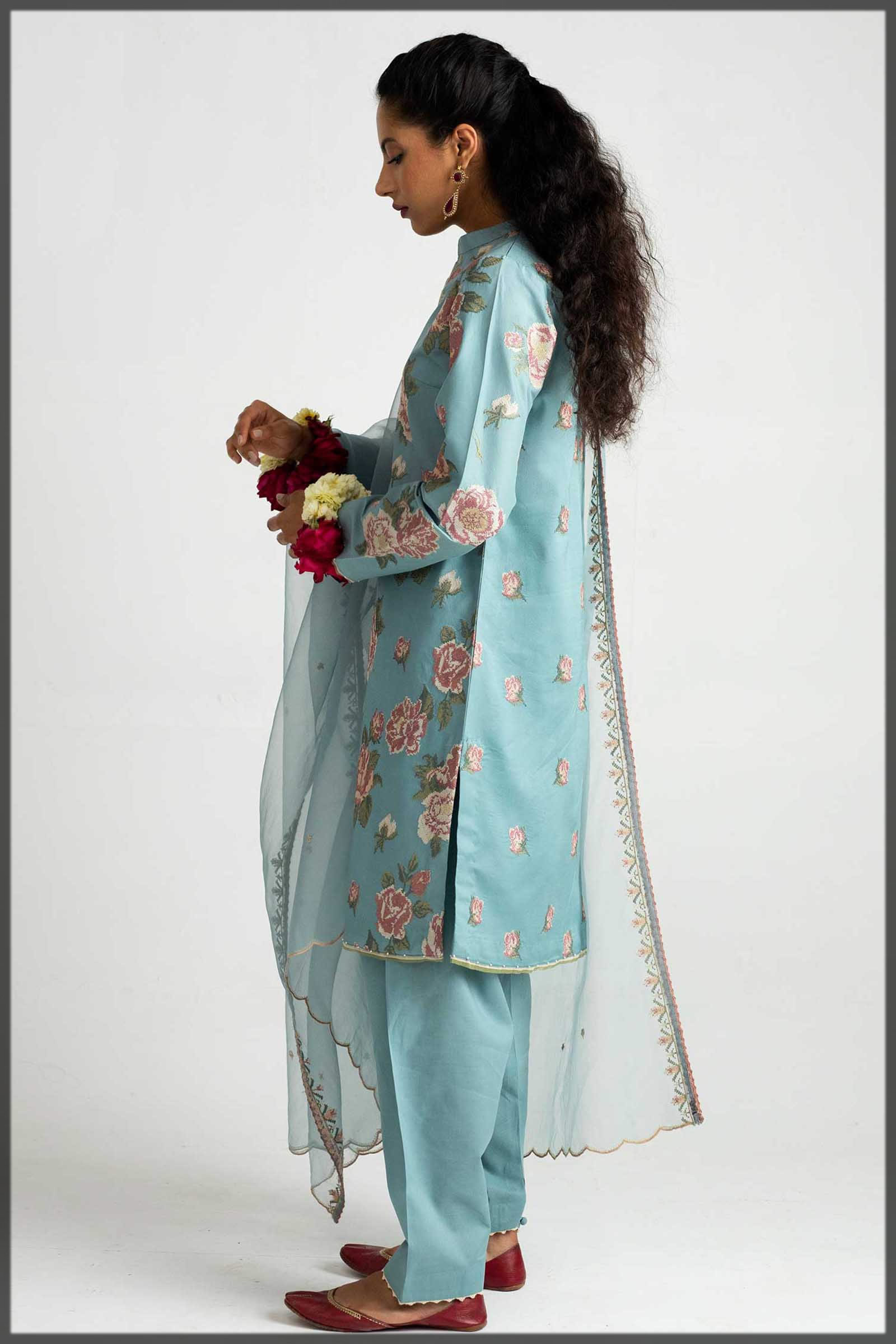 light sky blue eid outfit