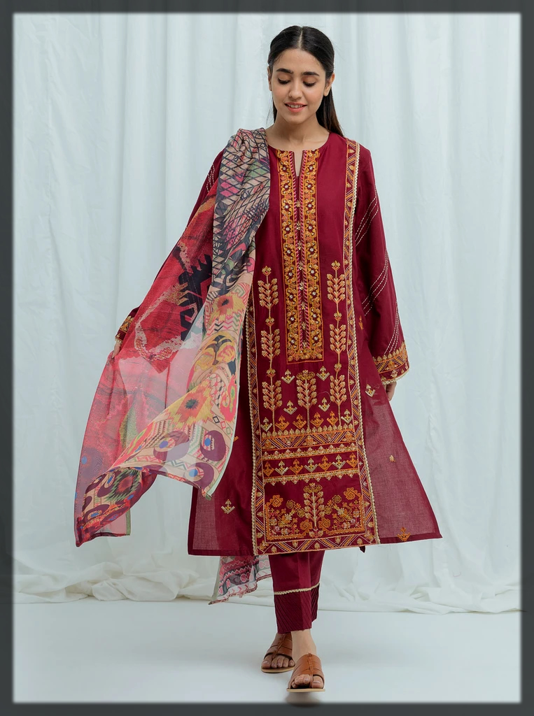 maroon shaded beechtree eid collection