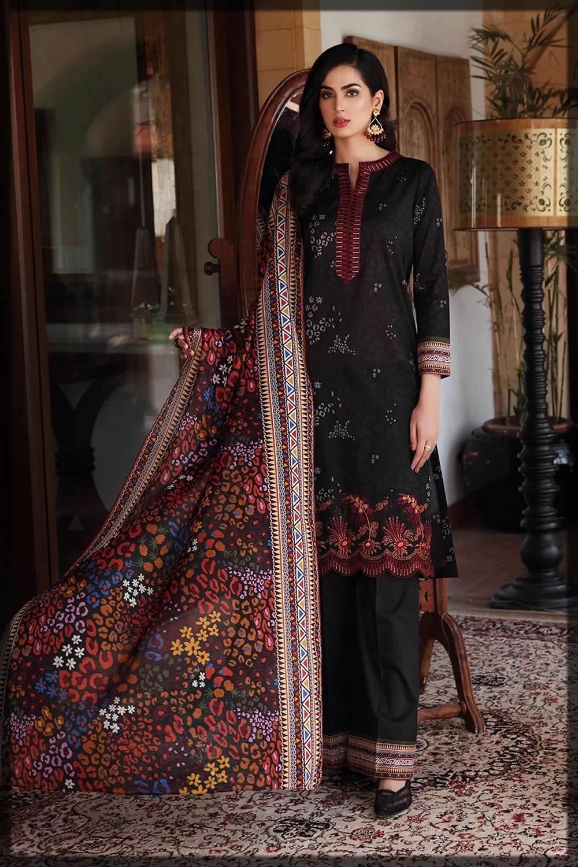 nishat linen black eid dresses