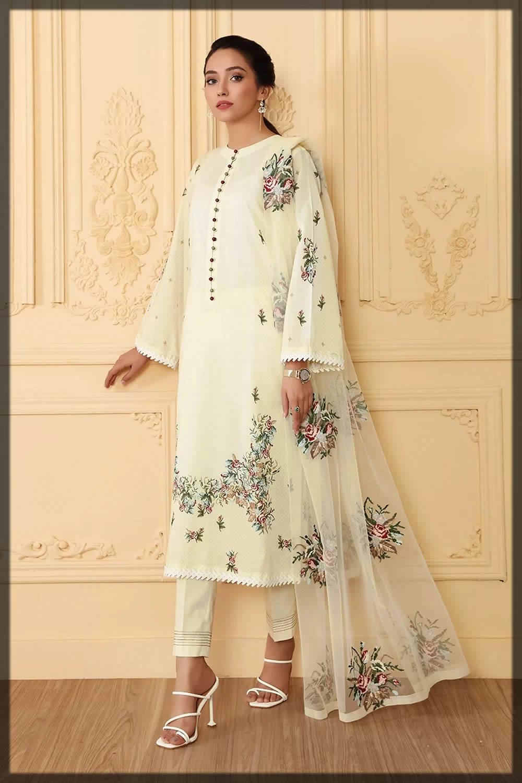 nishat linen white dresses