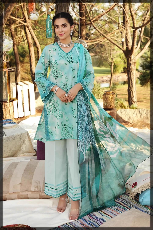 nishat linen blue eid dresses