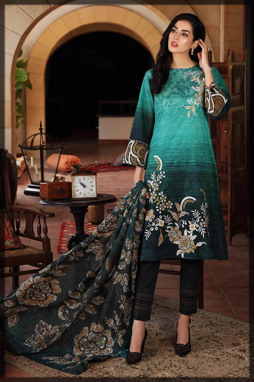 nishatlinen green eid dresses