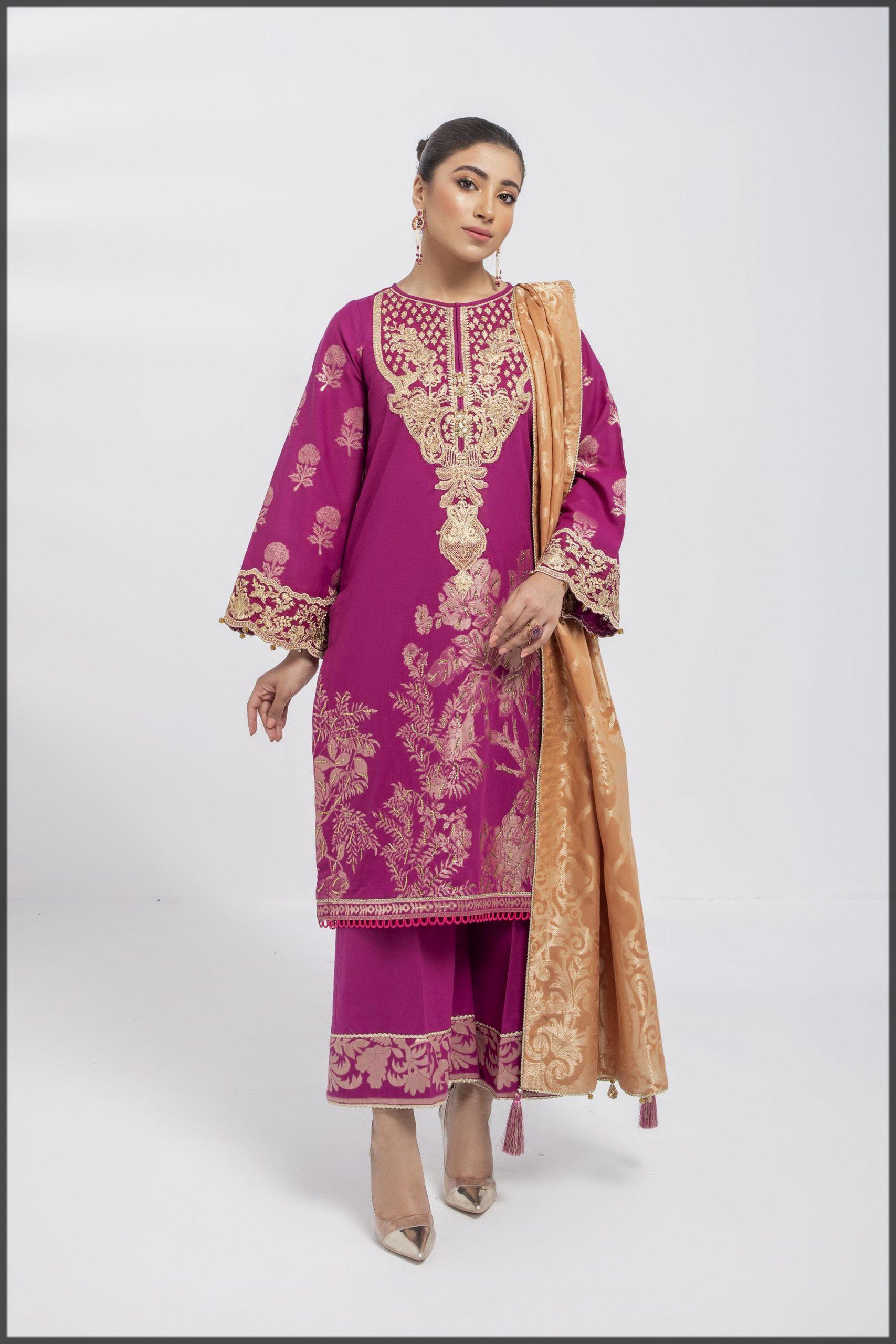shocking pink summer suit for women