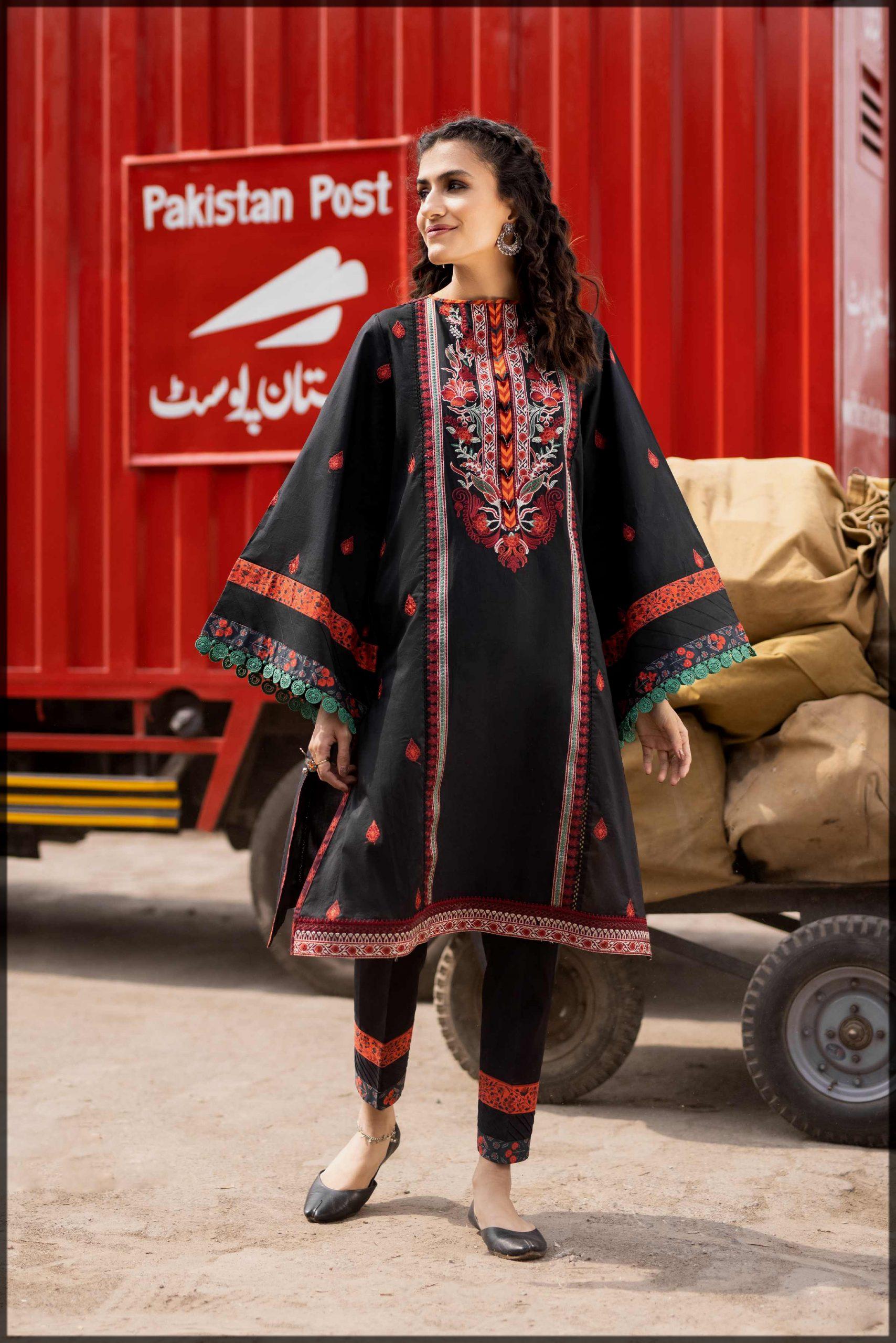sleek black spahhire eid dress