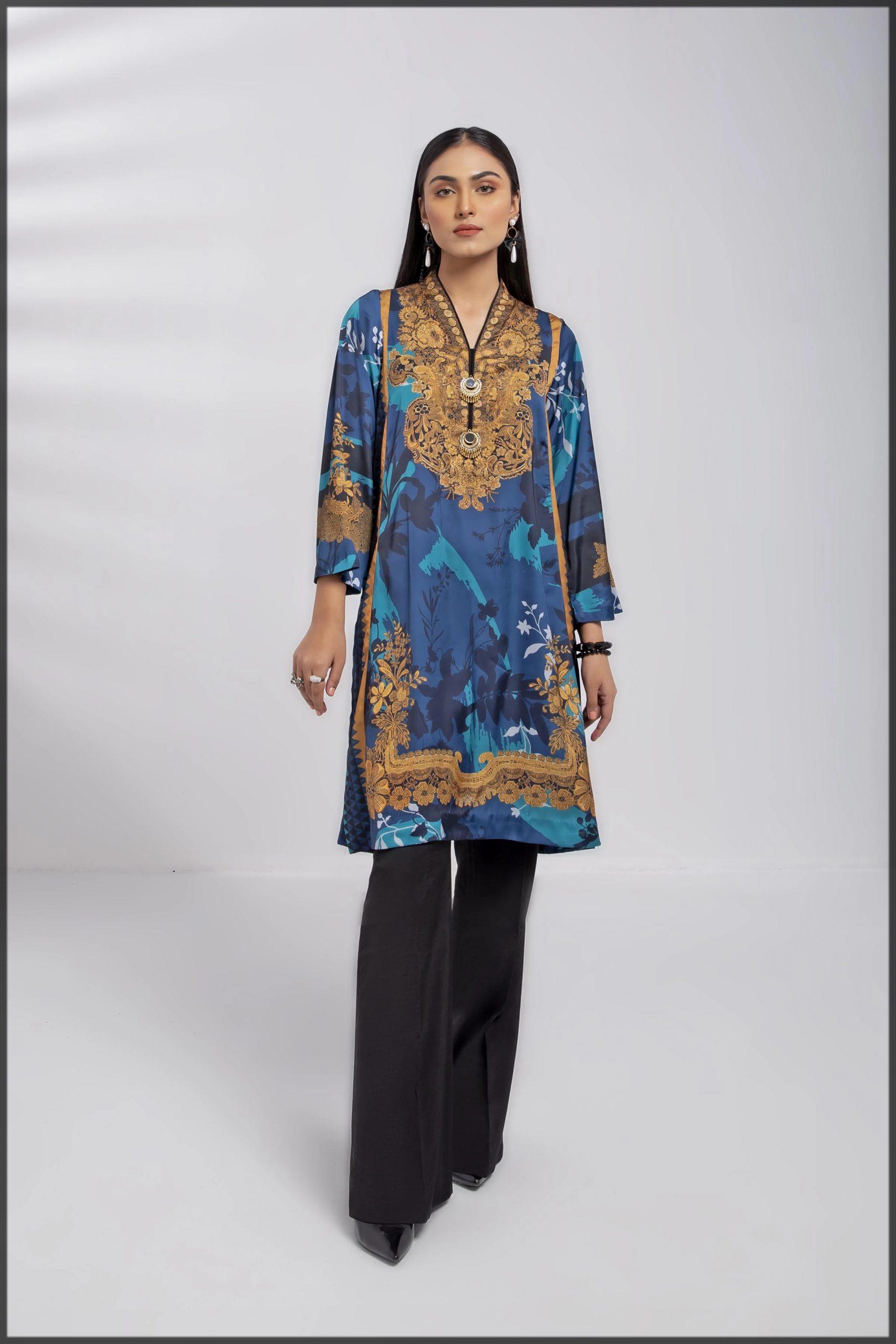 sleek blue summer suit for women