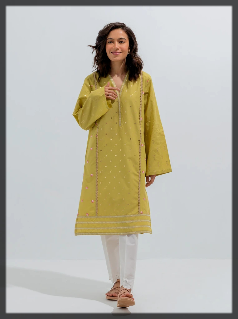 stunning embroidery kurta for eid ul adha